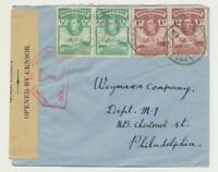 GOLD COAST (PRESTEA) TO USA 1941 CENSOR(#7) COVER, 3d RATE(SEE BELOW