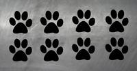 Pfoten Cat Dog Hundepfoten Katzenpfoten Aufkleber Sticker 8 Stück 5X5 Hund Wolf