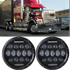 2x 75W Round LED Headlight Sealed Hi/Lo Beam with DRL for Western Star Heritage