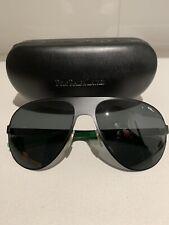 Ralph Lauren RL MATTE BLACK/GREEN men's AUTHENTIC Sunglasses