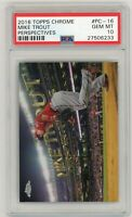 Mike Trout Los Angeles Angels 2016 Topps Chrome Perspectives #PC-16 Card PSA 10