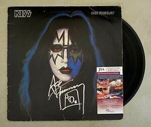 """Ace Frehley KISS Signed Autograph Auto """"KISS Solo 1978"""" Album Vinyl LP JSA COA"""
