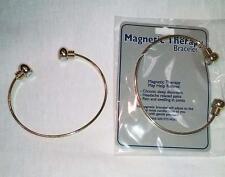 MAGNETIC GOLD TONE BANGLE BRACELET magnet health JL374 natural healing bracelets