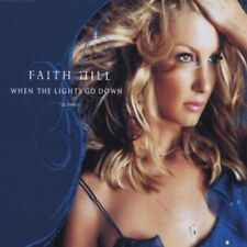NEW! FAITH HILL When The Lights Go Down GERMANY collectors CD single FREE S&H!