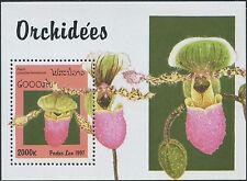 LAOS Bloc N°138 ** Bf fleurs, Orchidée 1997, flowers, orchids Sheet MNH