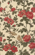 Cream Ivory Flower Bird 3 Sisters Favorites 2014 Fabric - Moda - BTY - 3700 33