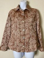 Chico's Womens Size 0 Floral Button Front Blazer Jacket