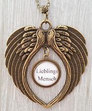 Medaillon Lieblingmensch Flügel Gothic Engel steampunk vintage Angel Gothik Elfe