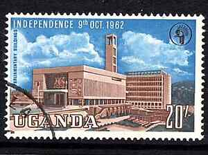 Uganda 1962/64 QE2 Independence 20/- Brown & Blue SG 110 Cat £21 F/Used
