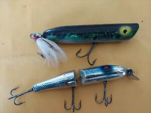 Creek Chub Pikie and Striper Striker Vintage fishing Lures
