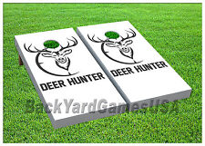 VINYL Deer Hunter Hunting Scope Fans WRAPS CORNHOLE BEANBAG Boards 969
