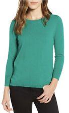 J. Crew Dublin Green 100% Cashmere Crewneck Sweater NWOT XL