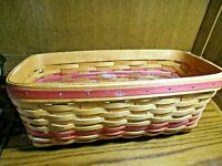 Longaberger 1996 Mothers Day Vanity Basket w/Plastic Insert Dresden Ohio USA 509