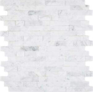 Selbstklebend Naturstein Cararra Optik Weiss Wand 200-M22 I 10 Mosaikmatten