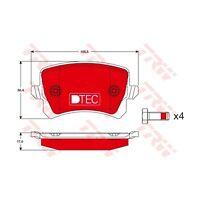 TRW GDB1763DTE Bremsbelagsatz, Scheibenbremse DTEC COTEC  Hinten für VW CC