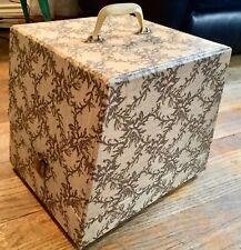 Vintage retro Mcm Wig Case/ Hat Box Travel Storage Container styrofoam head