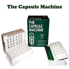 """00""  THE CAPSULE  MACHINE Filling Filler POWDER HERBS VITAMINS PILLS MEDICATION"