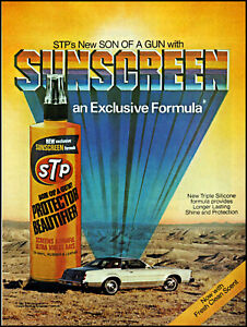 1981 desolate heat car STP Son of a gun sunscreen vintage photo print ad ads56