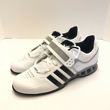 Adidas AdiPower Weightlifting Powerlift Trainer Shoes White M25733 Mens Size 14
