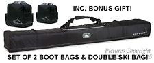 NEW HIGH SIERRA 4115/4050 DOUBLE SKI&BOOT BAGS COMBO W/LIFE WARRANTY+BONUSES