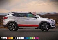 Sticker Decal Vinyl Side Sport Stripe Body Kit for Hyundai Tucson Rack Door