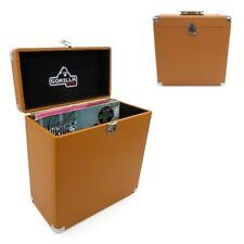 """Gorilla LP-45 12"""" Vinyl Record Storage Carry Case Retro (Tobacco) - Pair"""