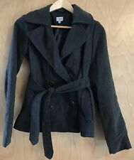 Charlotte Russe Women's Dark Gray Double Breasted Trench Jacket Coat Size S