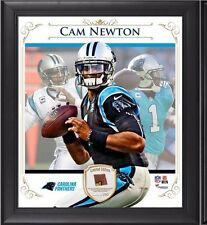 Cam Newton Game Used Football Collage 15x17 Photo Limited Edition 250 Panthers