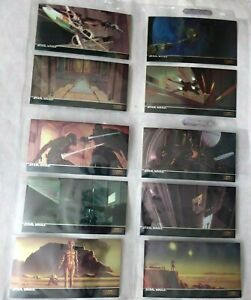 1994 STAR WARS TOPPS FINEST WIDEVISION Chrome Inserts C1-C10
