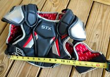 Stx Jolt Lacrosse Chest Pad Safety Protection Red Black Grey Sz: Youth S Euc