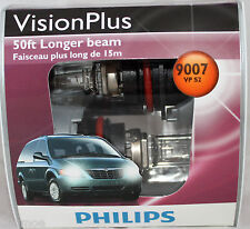Genuine Philips Vision Plus 50ft Brighter 9007 HB5 VPS2 Halogen Bulbs NEW Lamp