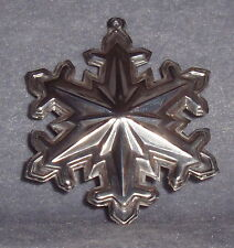1990 Wallace Sterling Silver Memories Dual Snowflake Xmas Tree Ornament Pendant