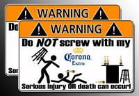 Funny Corona Warning Sticker bar beer decal