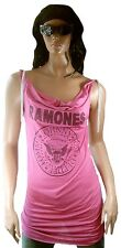 WoW AMPLIFIED RAMONES Hey Ho Let's Go Logo Rock Star Vestido Fucsia M 38/40