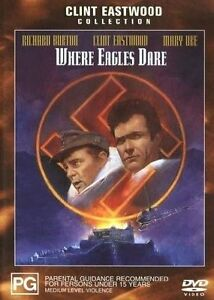 Where Eagles Dare DVD Clint Eastwood New Sealed Australian Release