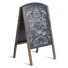 """31.5"""" Wood A-Frame Chalkboard Menu Sign Board Sidewalk Wedding Signage"""