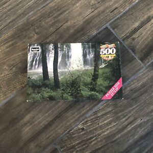 """Burney Falls, CA 500 full size piece Puzzle RoseArt 13"""" x 19"""" Sealed Waterfall"""