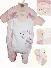 BABY CLOTHING 7Piece BABY Girl Clothing Set Baby Romper Sleepsuits NEW Pink