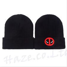1pcs Deadpool Beanie Knit Hat  Cap Snowboard Ski Knit Winter Warm Black Cap Hat