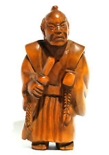 "Y6397 - 2"" Hand Carved Boxwood Netsuke :Japanese Samurai"