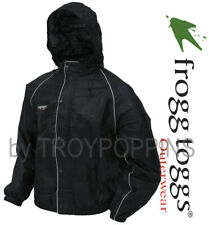 FROGG TOGGS RAIN GEAR MENS-FT63132-01 BLACK JACKET ROAD TOAD WET WEAR RIDING
