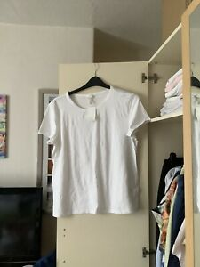 Bnwt H&M White Basics White Top Size XL 20