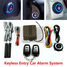 Keyless Entry Car Alarm System Engine Ignition Start Push Button Remote Start