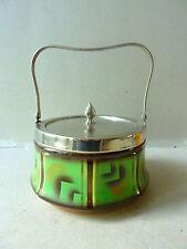 boite à biscuit en céramique Art Deco, GM Czechoslovakia, années 20-30, No 2