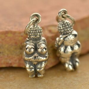 925 Sterling Silver Venus of Willendorf Charm Necklace Fertility Female 1478