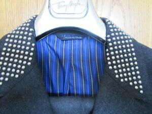 Versace Anzug, grau, XXL Nieten Hose Bauchweite 90 cm Sakko BW ca. 108 cm