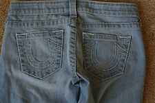 TRUE RELIGION SAMPLE 26X32 Jeans NWOT$314 Distressed!Sexy Straight Leg!Med Blue!