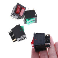 20A 125VAC KCD6 Double Boat Rocker Switch 6 Pin On-Off With Green Red Light RF