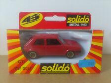 SOLIDO 1/43 (1358) *** VW GOLF GTI *** NEUF BOITE. FONDS DE STOCK.