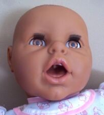 Rare LIFELIKE realistic BERJUSA newborn black BABY DOLL reborn OPEN MOUTH